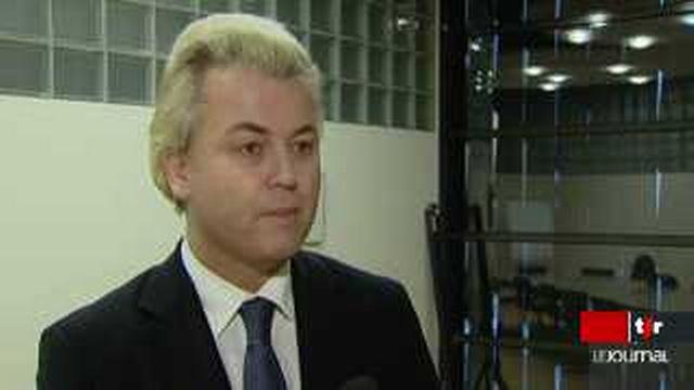 Vote contre les minarets: le député hollandais Geert Wilders salue la décision des Suisses