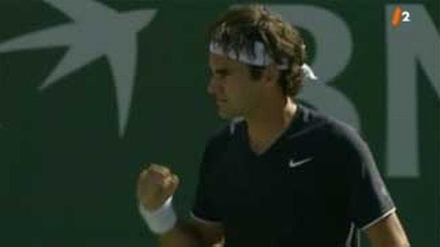 Tennis / tournoi d'Indian Wells: Wawrinka s'incline (6-7, 6-7), Federer s'impose (6-3, 5-7, 6-2)