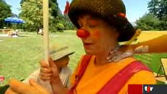 Genève: des clowns font de la prévention contre les dangers du soleil