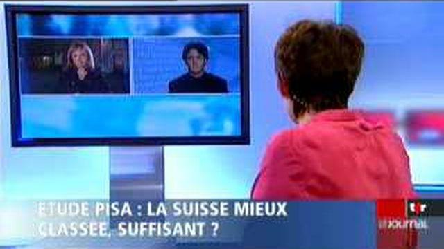 Etude PISA: le débat entre Sylvie Perrinjaquet, cheffe du département éducation, culture et des sports/NE et, Jean-Christophe Schwaab, secrétaire central de l'USS