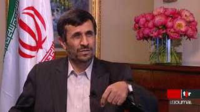 Conférence contre le racisme: entretien avec le président iranien Mahmoud Ahmadinejad