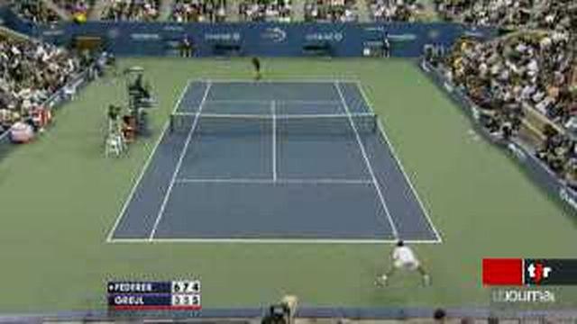 Tennis: à New York, Roger Federer se qualifie pour le troisième tour en éliminant Simon Greul
