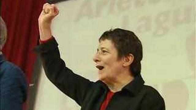 Election présidentielle française : la candidate Arlette Laguiller