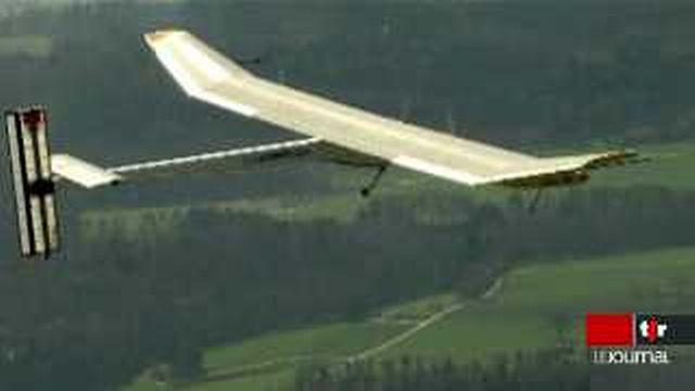 Solar Impulse: l'avion solaire effectue avec succès son premier vol