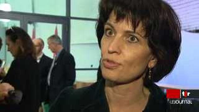 Echec de l'initiative du GSsA contre l'exportation du matériel de guerre: réactions de Doris Leuthard, cheffe dép. féd. de l'Economie