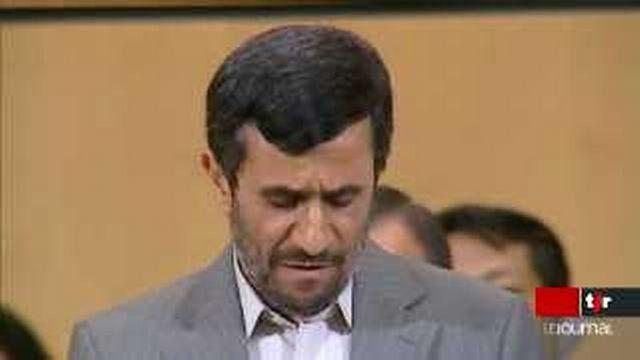 Conférence contre le racisme à Genève: le président iranien Mahmoud Ahmadinejad critique vivement Israël