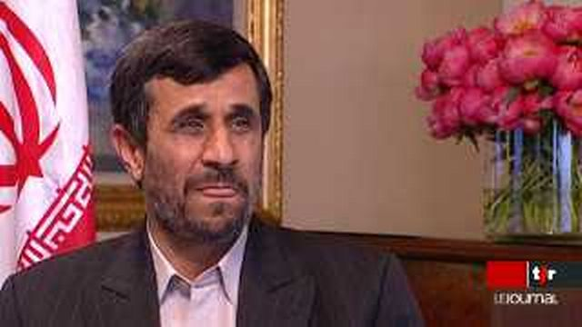 Conférence contre le racisme à Genève: entretien avec le président iranien Mahmoud Ahmadinejad (1/2)
