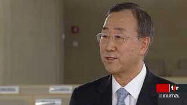 Conférence contre le racisme à Genève: entretien avec Ban Ki-Moon, secrétaire général de l'ONU