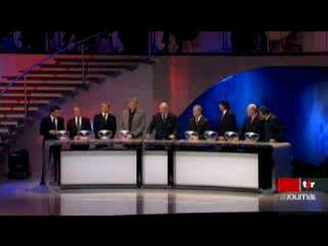 Tirage au sort de l'Euro 2008: l'équipe suisse de football découvre ses adversaires