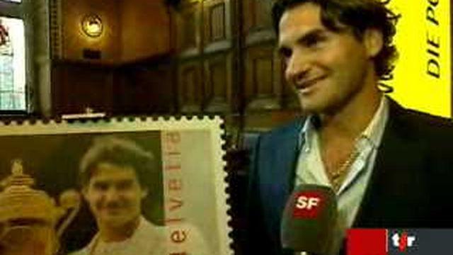 La Poste lance le timbre de 1 franc à l'effigie de Roger Federer
