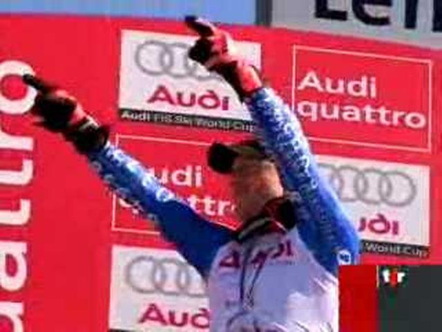 Ski alpin: battu en Super-G, Didier Cuche ne gagnera pas le général