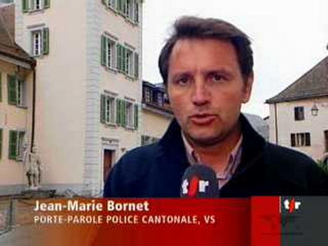 Meurtre de Corinne Rey-Bellet: les explications de Jean-Marie Bornet, Porte-parole police cantonale, en direct de St-Maurice (VS)