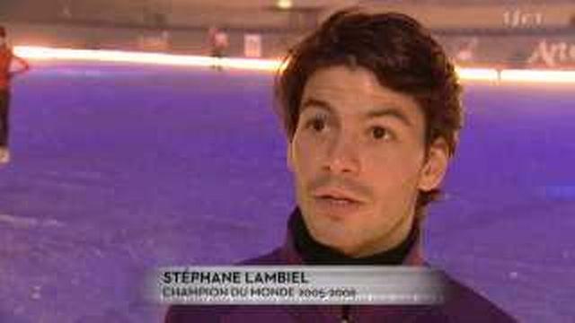 Patinage artistique: Stéphane Lambiel patine pour le gala Art on Ice
