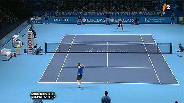Tennis / Masters (1/2-finale): Söderling - Del Potro: le premier set s'est joué aiu tie break