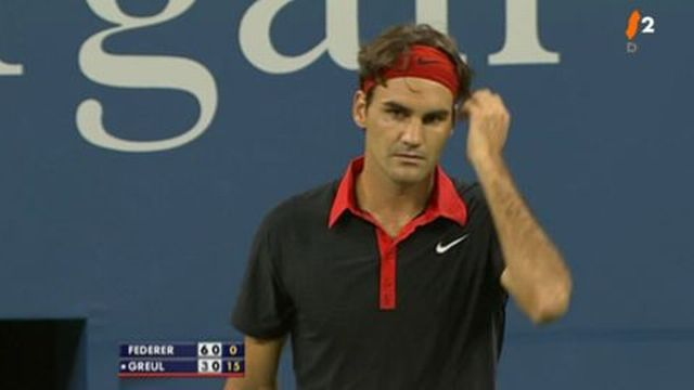 Tennis/US Open: R.Federer SUI/1 - S. Greul ALL 6-3, à la 1e manche