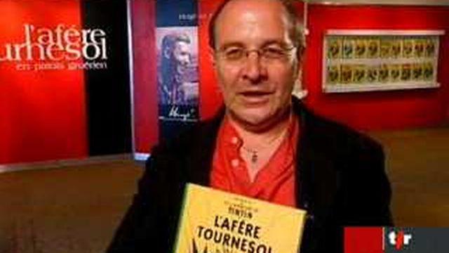 """Bulle (FR): Francis Niquille, président de l'association """"Alpart"""", présente l'exposition consacrée au centenaire d'Hergé"""