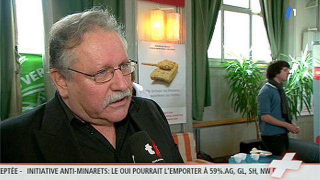 """14h00: André Daguet (PS): """"avec la crise économique, c'était difficile de faire gagner l'initative [contre l'exportation d'arme]"""""""