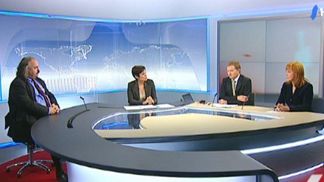 14h50: Luc Recordon et Sylvie Perrinjaquet réagissent à la votation sur les exportations d'armes