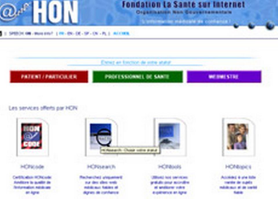 Helath On the Net répertorie l'information médicale en ligne sûre