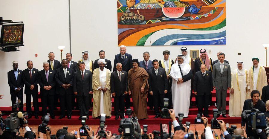 Le sommet réunit 14 chefs d'Etats, sur les 22 que compte la Ligue arabe.