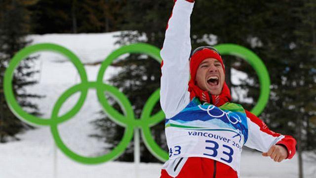 Première course olympique et premier titre pour le Grison. [Reuters]