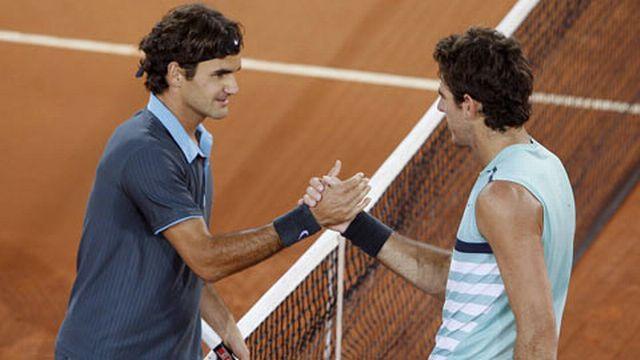 Federer a dominé Del Potro pour la 5e fois en 5 confrontations. [Keystone]