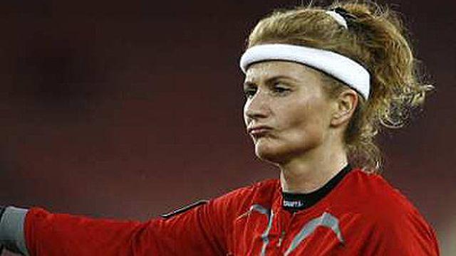 Nicole Petignat arbitre au plus haut niveau suisse depuis 99. [Reuters]
