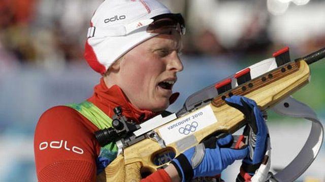 Berger a remporté la 100e médaille d'or olympique pour la Norvège. [Keystone]
