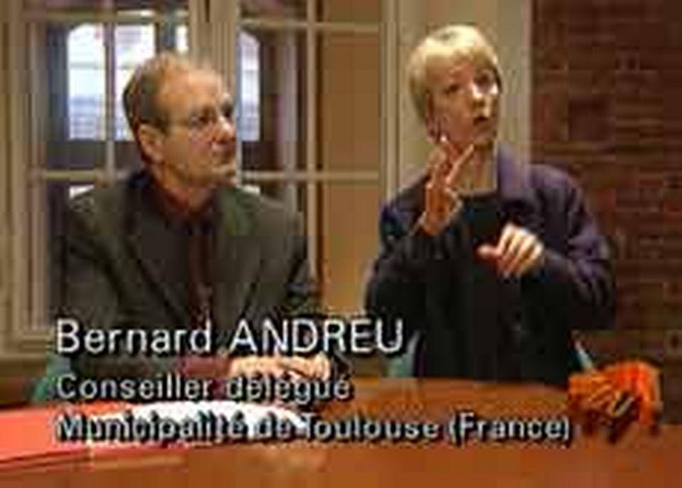 Bernard ANDREU, le conseiller municipal en charge des handicapés de Toulouse