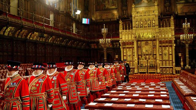 La Chambre des Lords, siège du Parlement britannique.