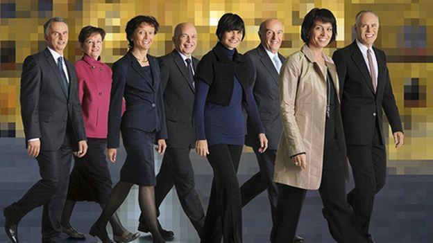Les Conseillers Fédéraux Souriants Pour 2010