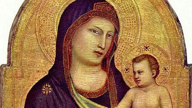 Giotto, Vierge à l'enfant (v. 1320). [wikipedia]