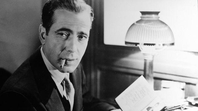 """Humphrey Bogart dans """"Le Faucon maltais"""" tiré du livre de Dashiell Hammett. [AFP]"""