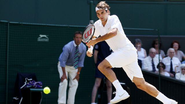 "Le train ""Roger Federer"" est véritablement lancé. [Keystone]"