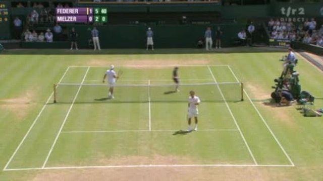 Tennis / Wimbledon: Federer enchaîne avec une très bonne 2ème manche 6-3 6-2