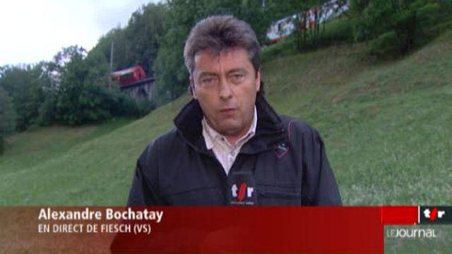 VS / Déraillement du Glacier Express: précisions d'Alexandre Bochatay