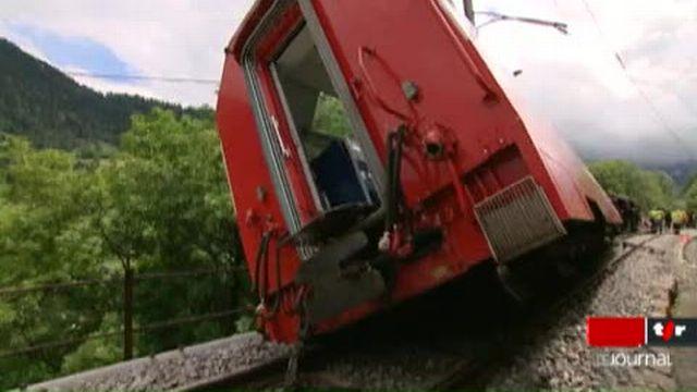 VS / Déraillement du Glacier Express: selon les premiers éléments de l'enquête, le conducteur s'est engagé trop rapidement à l'endroit de l'accident