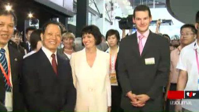 Exposition Universelle de Shangaï: Doris Leuthard était sur place à l'occasion de la journée consacrée à la Suisse