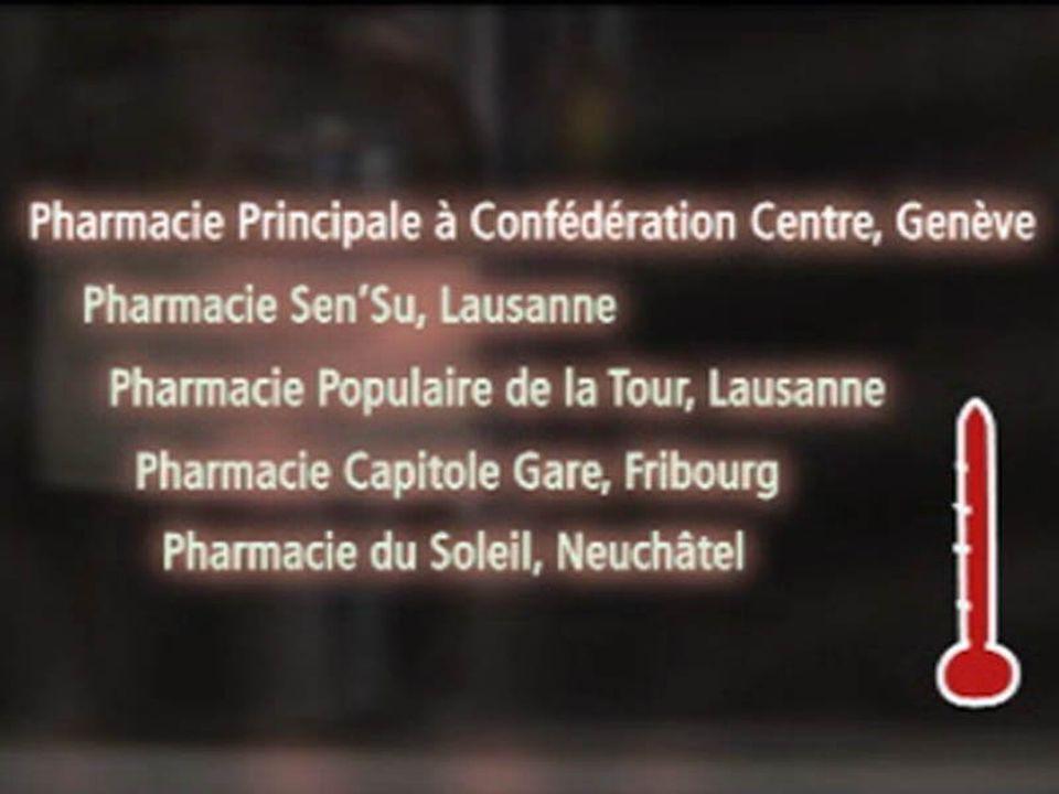 Pharmacies ayant donné des conseils imprécis