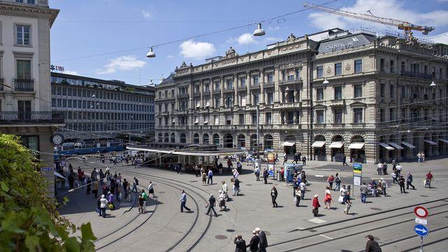 La place financière suisse n'a pas perdu de son attractivité. [Keystone]