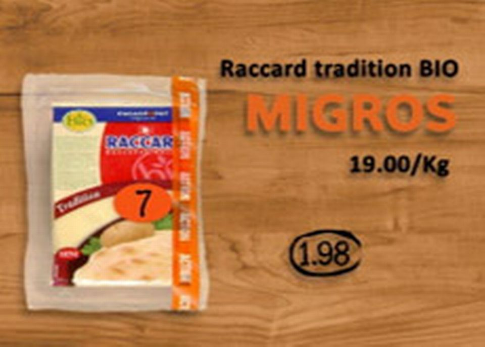 Migros, Raccard tradition BIO