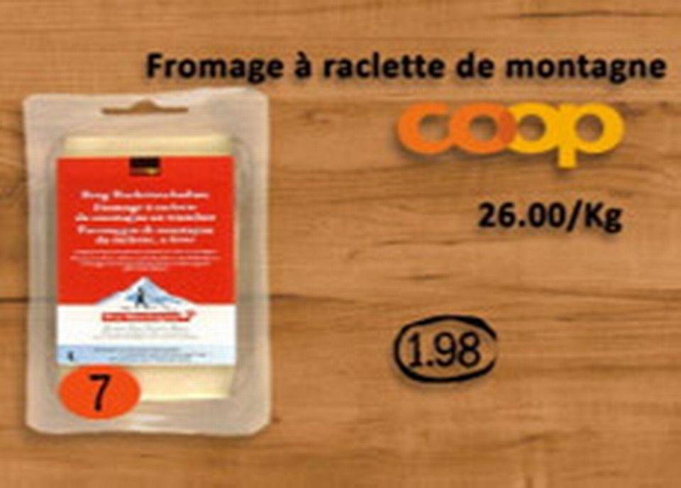 Coop, fromage à raclette de montagne