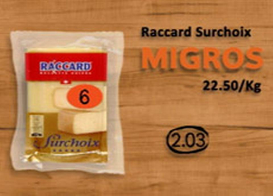 Migros, Raccard surchoix