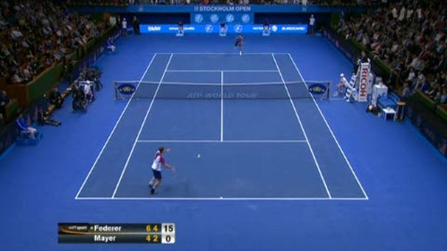 Tennis / Stockholm (finale): Roger Federer - Florian Mayer (6-4 6-4)