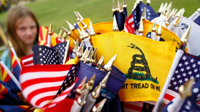 Manifestation des opposants du mouvement Tea Party à Phoenix, le 22 octobre 2010. [Joshua Lott/Getty Images - AFP]