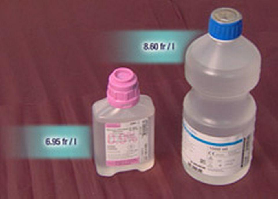 Du sérum physiologique au litre