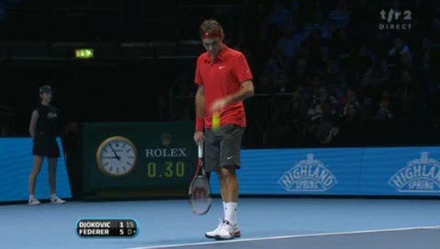 Tennis / Masters (demi-finale): Federer crucifie Djokovic 6-1 au premier set