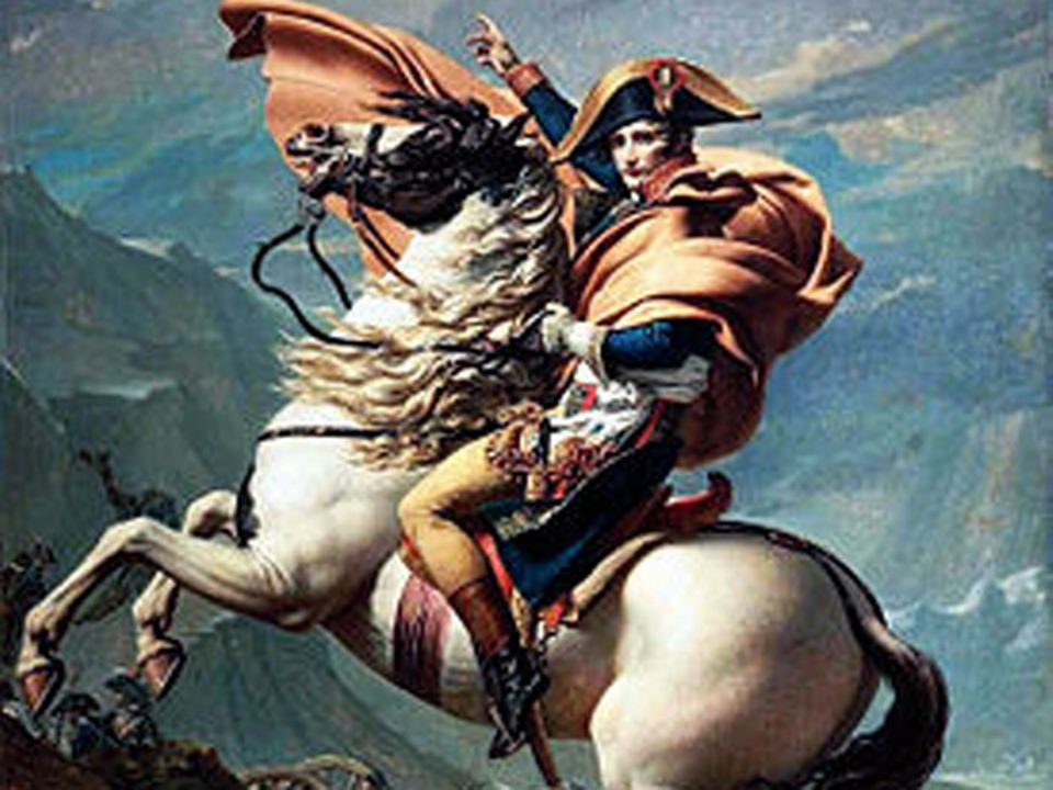 Napoleon franchissant le col du Grand-Saint-Bernard [Wikipedia]