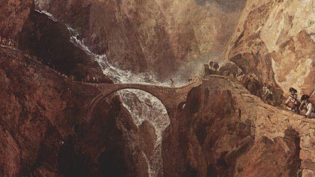 Le Pont du diable, au Gothard, peint par Joseph Mallord William Turner. [Wikimédia]