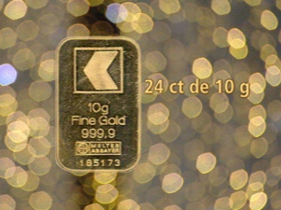 Lingot d'or 24 carats, 10 grammes